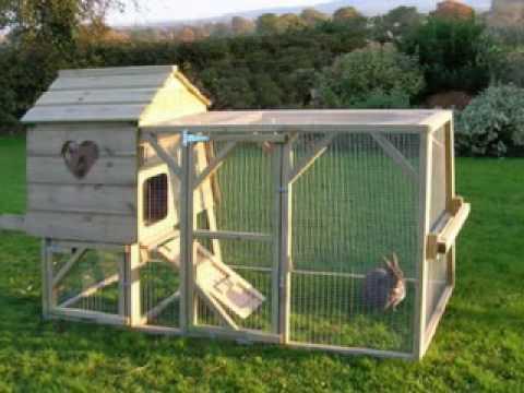 домик - клетка для кролика